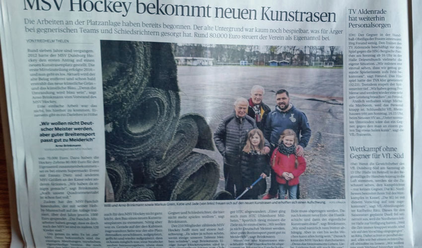 3. Spende an MSV Hockey